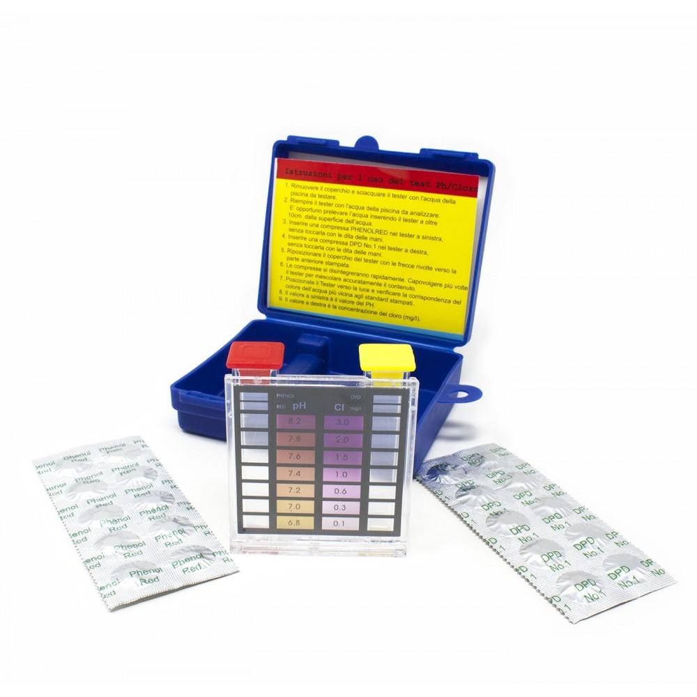 Trattamento Acqua Piscina Test con Reagenti Cloro e PH