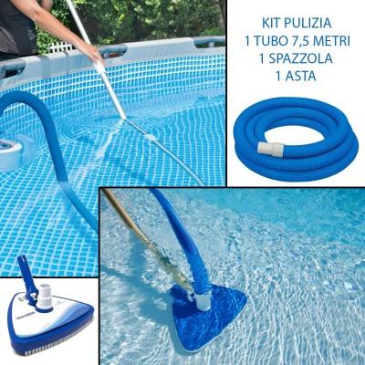 Kit Pulizia Risparmio Tubo + Spazzola Aspirante + Asta Telescopica
