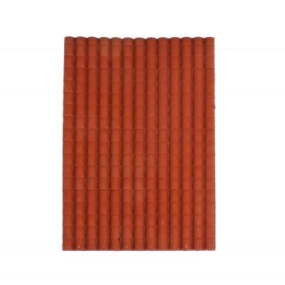 Pannello Tegole Grandi Rosse per Presepe cm. 35x25 - 86573