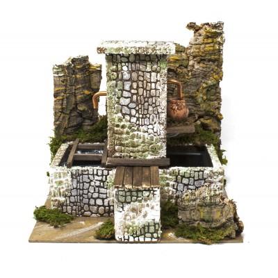 Fontana Scena per Presepe Fontana con Pompa 24x21x25 cm - 11657