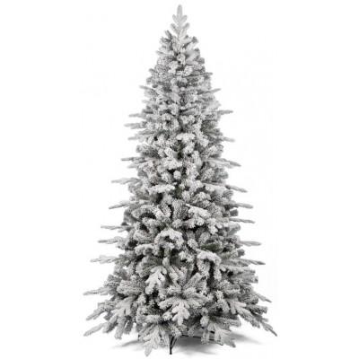 Albero di Natale ELEGANT FLOCCATO 210 cm Albero Innevato con Rami in PE + PVC