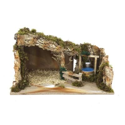 Capanna Grotta per Presepe con Pozzo 60 x 35 cm 1246
