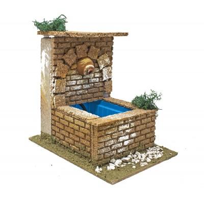 Fontana con Brocca 14 x 19 cm per Presepe con Motorino per Acqua