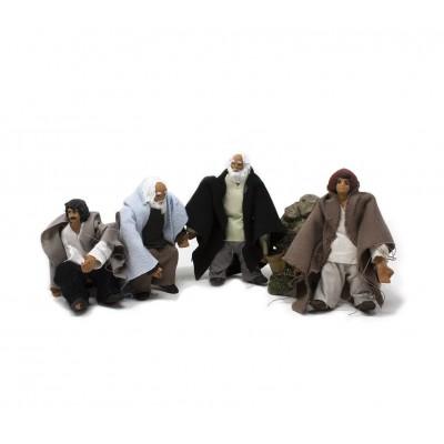 Statuine per Presepe per Movimenti con Snodi 10 cm 4 Personaggi Assortiti