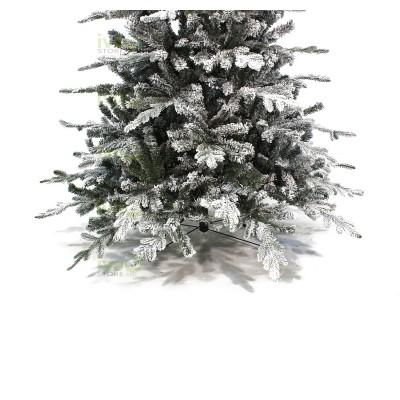 Albero di Natale ELEGANT con Neve 240 cm Albero Innevato con Rami in PE + PVC