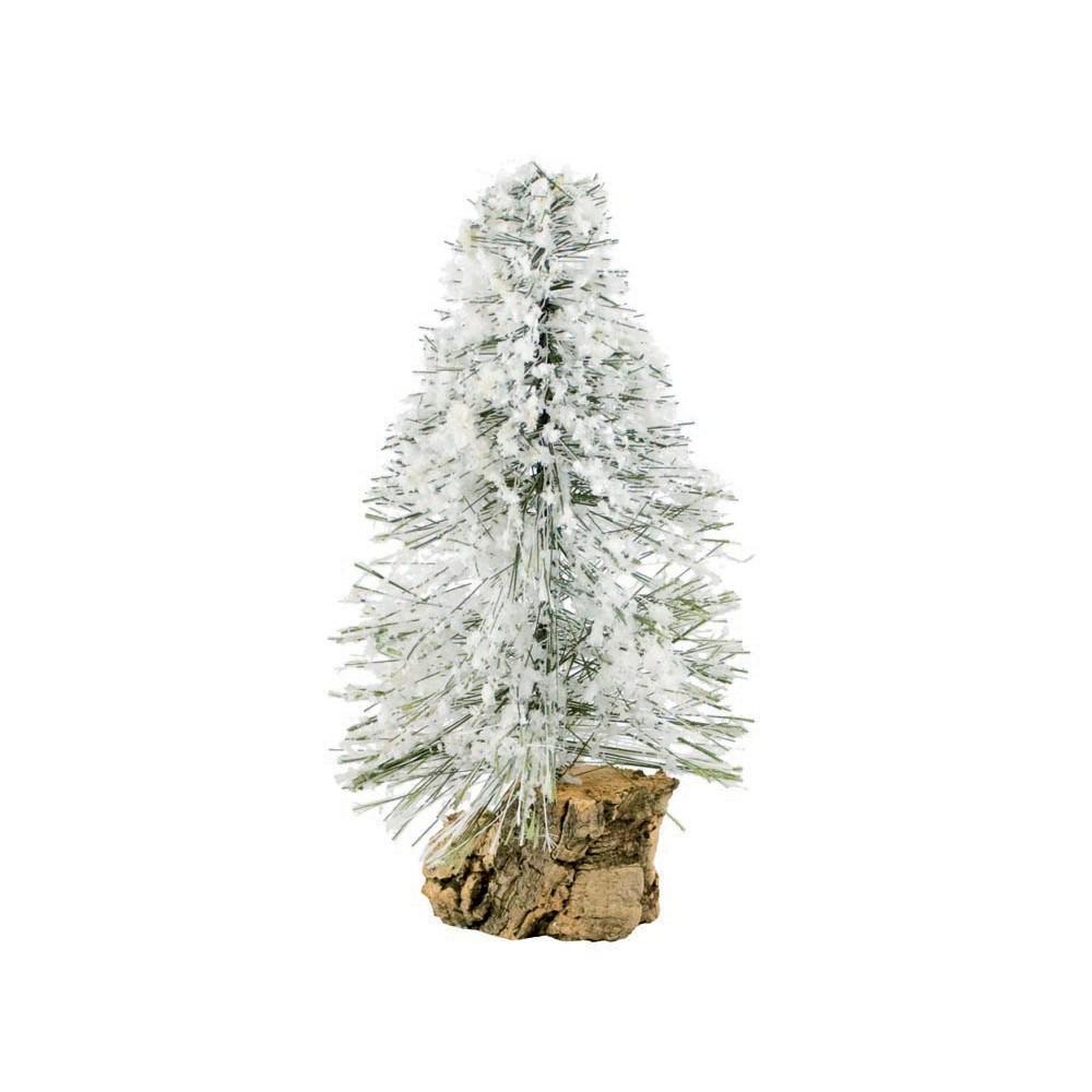 Miniatura di un pinetto innevato