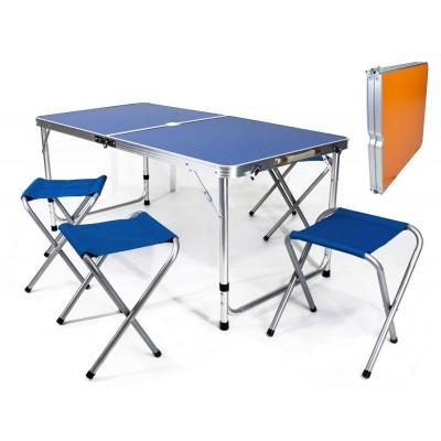 Tavolino da campeggio pic nic richiudibile con sgabelli