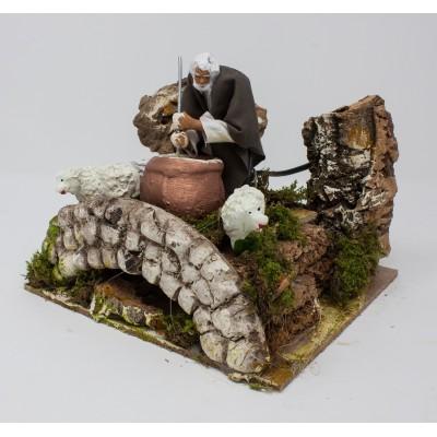 Presepe in Movimento Statuina in terracotta il Ricottaio 10 cm