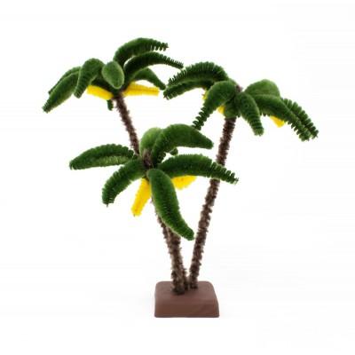3 Palme in miniatura per presepe alta 22 cm