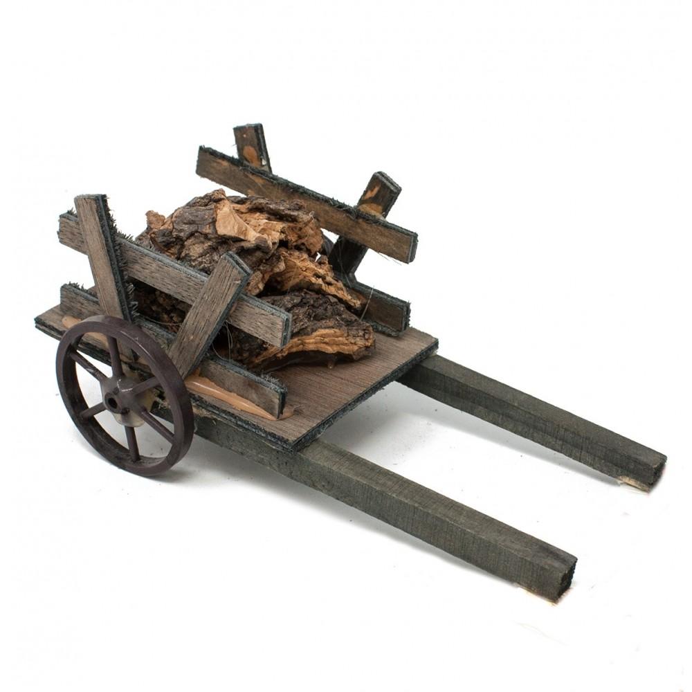 Carretto in legno con sughero