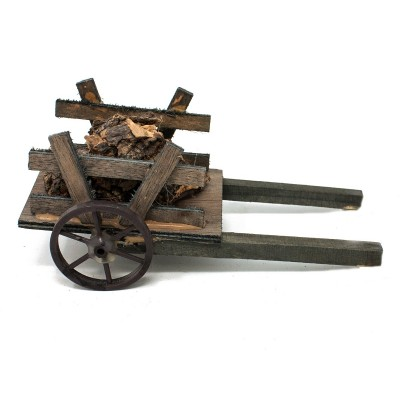 Carretto per presepe con Sughero 15 cm in Miniatura 41253