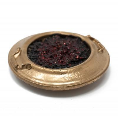 Miniatura per presepe di una conca con carbonella