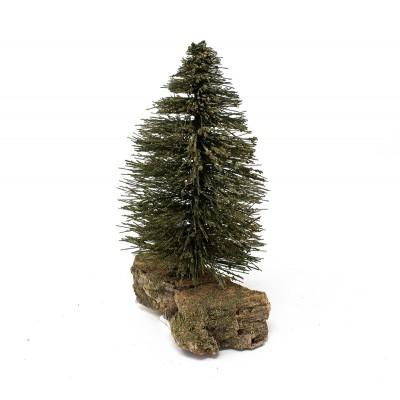 Miniatura di un pinetto con terra verde