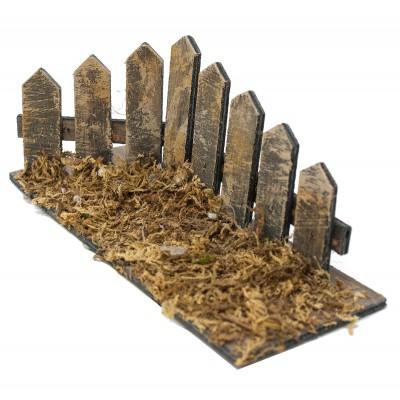 Steccato ad angolo miniatura per presepe