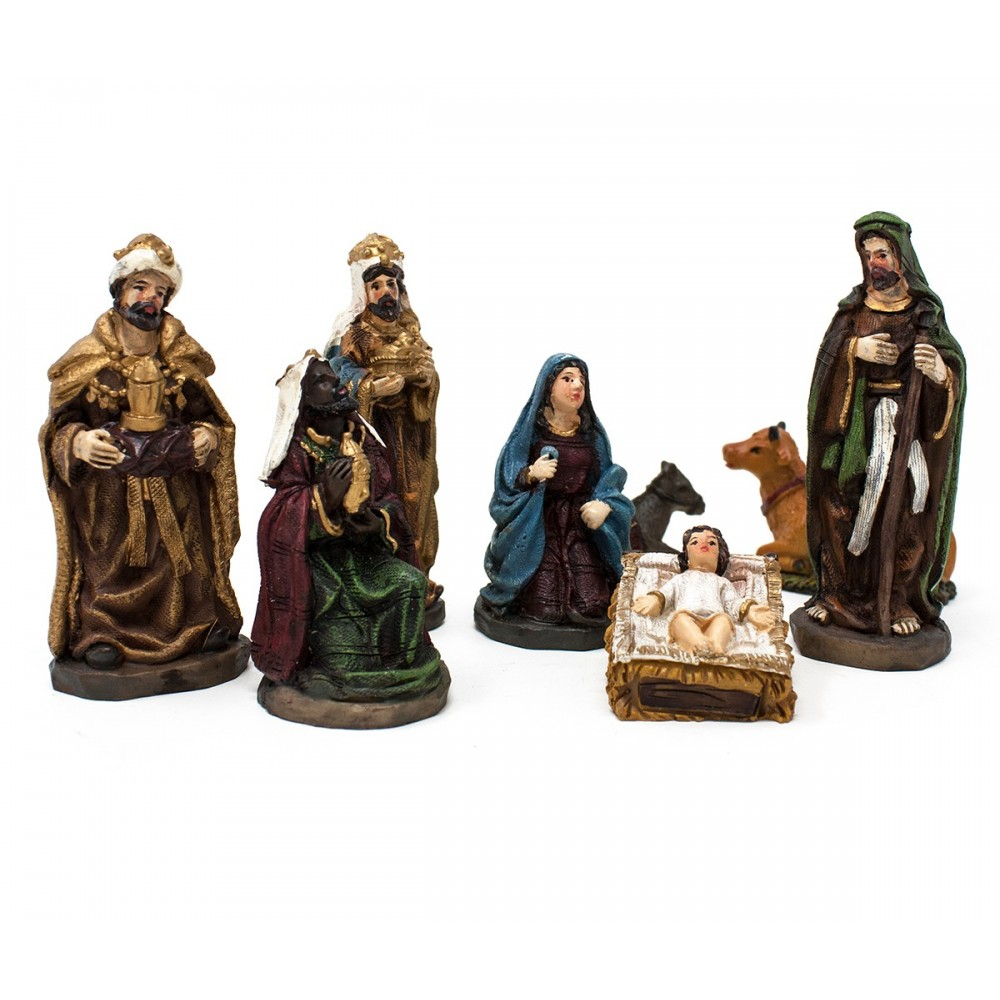 Set natività grande 9 cm in resina