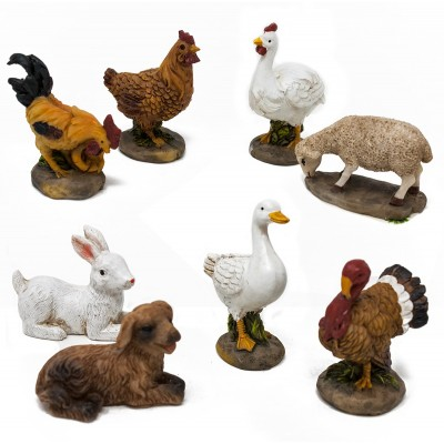 Animali assortiti per presepe