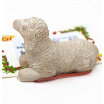 pecorella seduta per presepe 5 cm