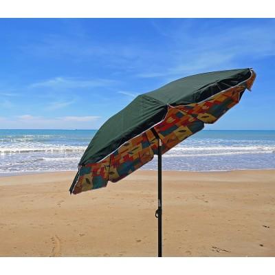 Ombrelloni Per La Spiaggia.Ombrellone Spiaggia 200 Cm In Polycotton Con Copertura Molto Coprente Tindari 37166