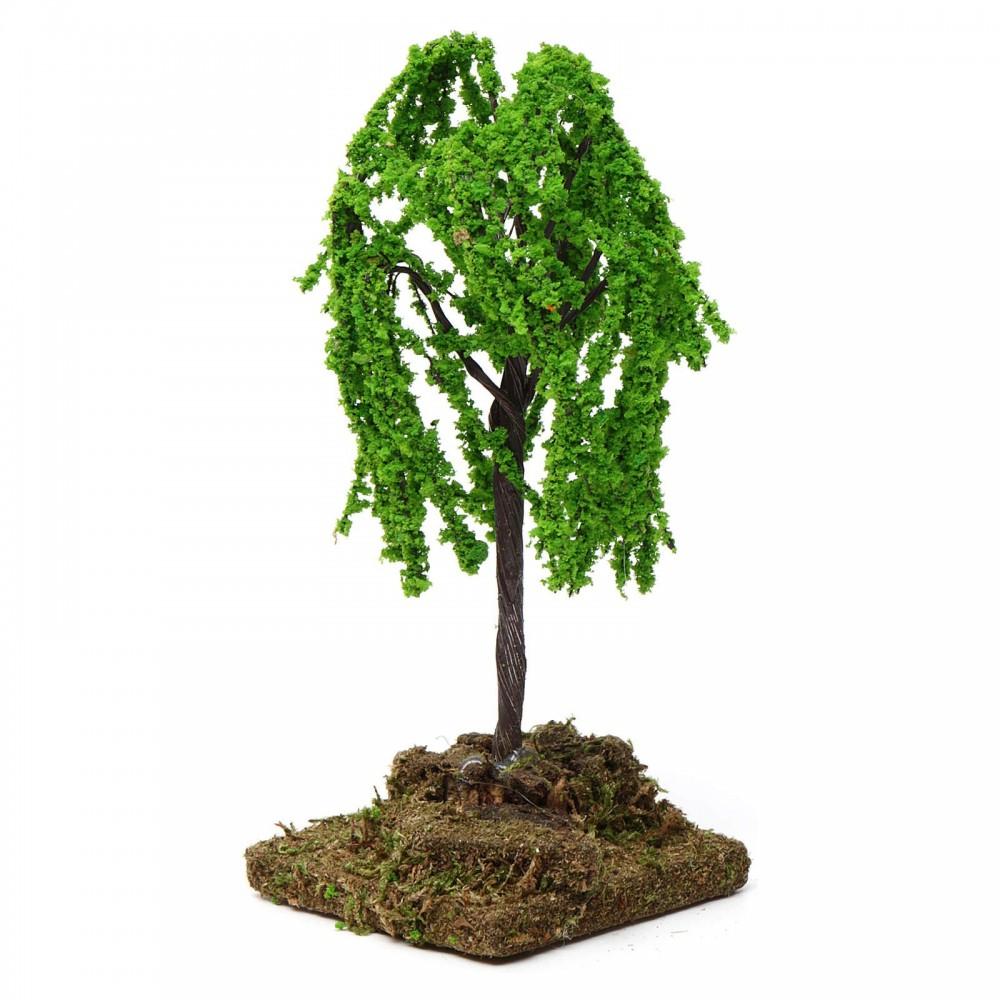 14 cm Albero foglie verdi h