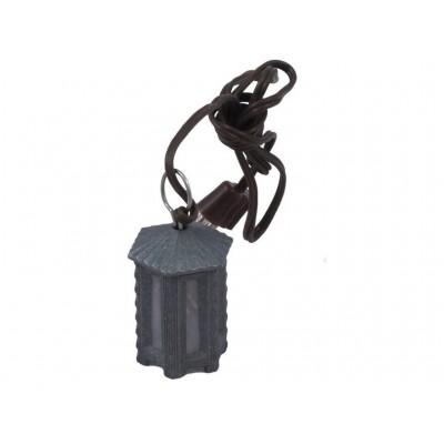 Lanterna Esagonale in Metallo 3 cm con Luce Bianca 3,5 V - A45TB