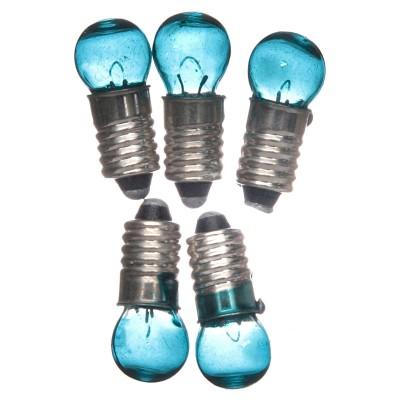 5 Lampadine E5,5 blu 3,5V ricambi