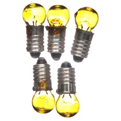 5 Lampadine E5,5 gialla 3,5V ricambi