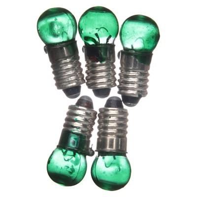 Lampadina E5,5 Verde 5 Pezzi 3,5V - N02V