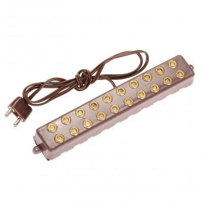 Presa multipla per luci presepe 10 entrate 3,5/4,5 V