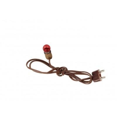 Lampada Rossa E5,5 con Filo e Spina Basso Voltaggio 3,5 V - N50R
