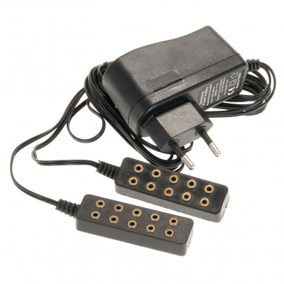 Trasformatore di corrente 5 + 5 attacchi per luce fissa e tremolante