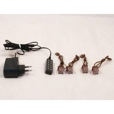 Trasformatore di Corrente 5 Attacchi per Luce Fissa e 4 Lanterne - PFT05N