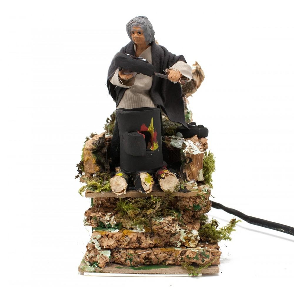 Joy Christmas Pastore per Presepe in Movimento 14 cm x 9 cm Il Taglialegna 37942