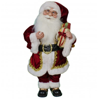 Babbo Natale con Musica e Movimento 55 cm Classico - 43818