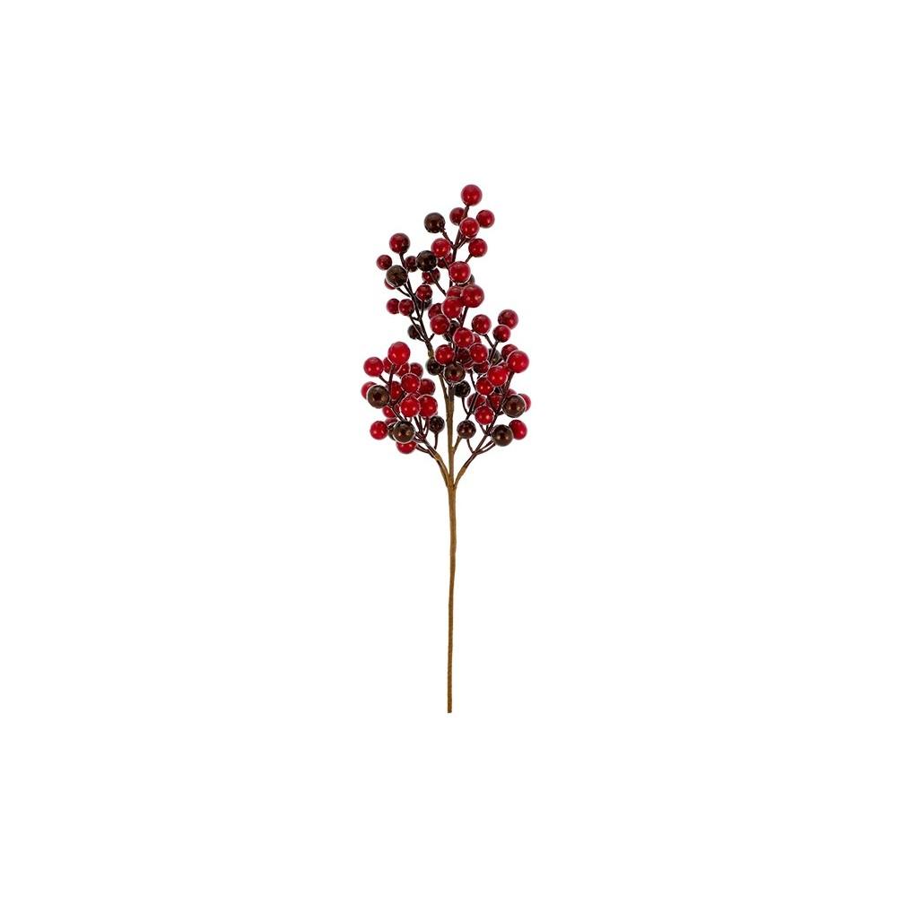 Albero Con Bacche Rosse 24 rami con bacche rosse 55 cm addobbo natalizio 45972 - ivostore