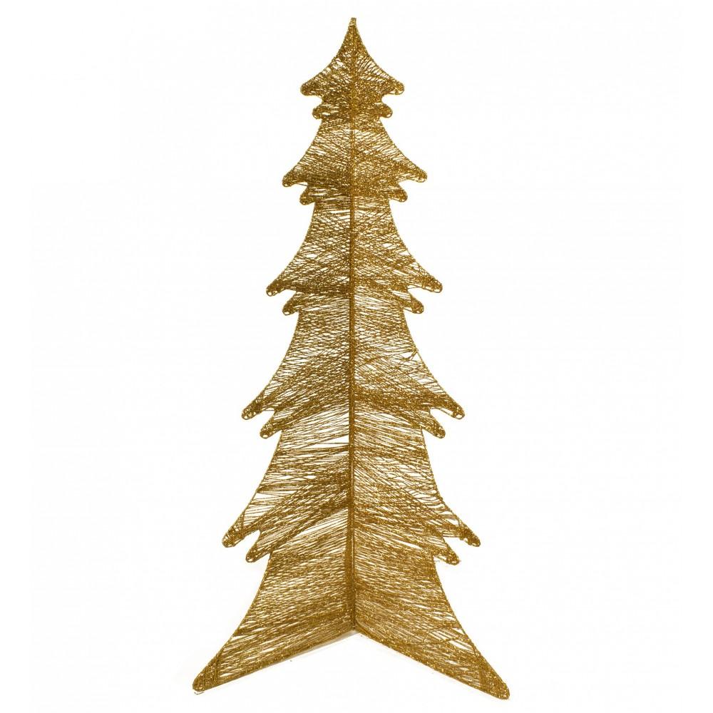 Alberi Di Natale Stilizzati Immagini.Albero Di Natale Oro Stilizzato Pieghevole Addobbo Natale Ivostore