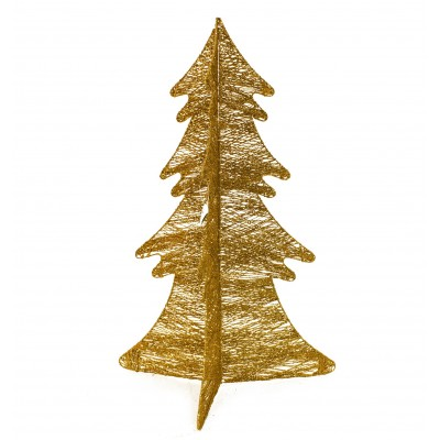 Albero Di Natale 75 Cm.Albero Di Natale Oro Stilizzato Pieghevole Addobbo Natale Ivostore