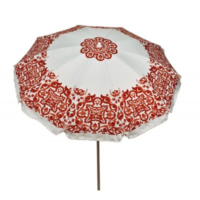 Ombrellone Maioliche Rosso in Alluminio con Trivella