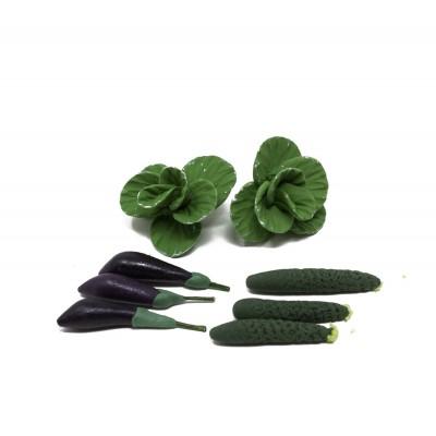 Ortaggi Verdure in Miniatura Set da 8 Pezzi per Presepe