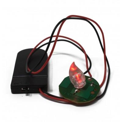 Lampada Effetto Fuoco per Presepe con Luce Tremolante a batteria 49539