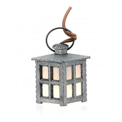 Lampione in Metallo H 3 cm Luce Bianca 3,5 V Accessori Presepe - A45B