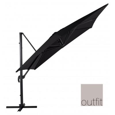 Ombrellone da Giardino a Braccio con Copertura Sospesa 3x3 metri Outfit 48047