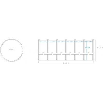 Piscina INTEX Fuori Terra Rotonda 488 x 122 cm Clear View Completa 26730