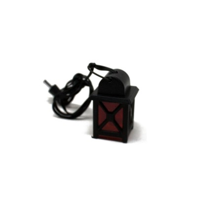 Lanterna in Plastica con Luce Rossa 3,5 V Luci per Presepe - 11453